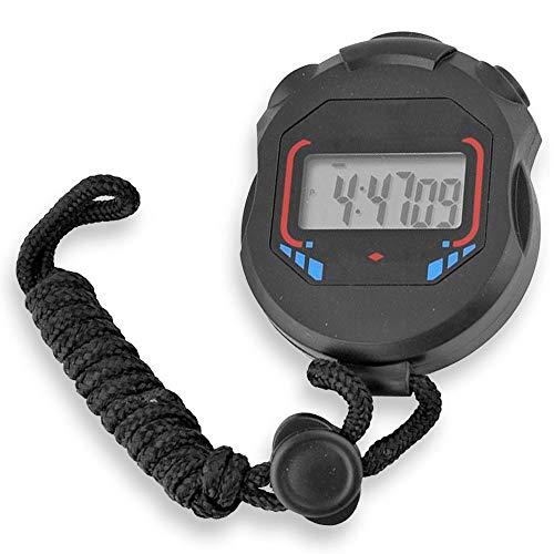 OcioDual Cronometro Digital Deportivo Reloj Alarma XL-013 Negro Pantalla LCD Luz con Correa para Atletismo Natacion