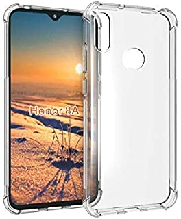 Huawei Honor 8A Protective Transparent Clear Case Shockproof Back cover, Clear