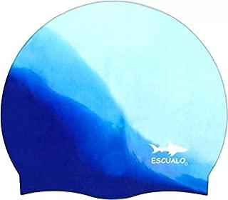 escualo Gorra para Natación Modelo Adulto, Color Combinada Azul