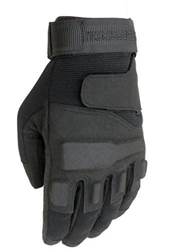 Seibertron Adult Or Youth S.O.L.A.G Sports Outdoor Full Finger Gloves Black L