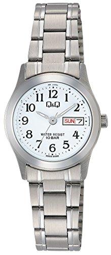 [シチズン Q&Q] 腕時計 アナログ 防水 日付 曜日 メタルバンド W473-204 レディース ホワイト