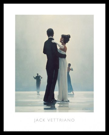 Germanposters Jack Vettriano Dance me to The End of Love Poster Kunstdruck Bild mit Alu Rahmen in schwarz 56x46cm