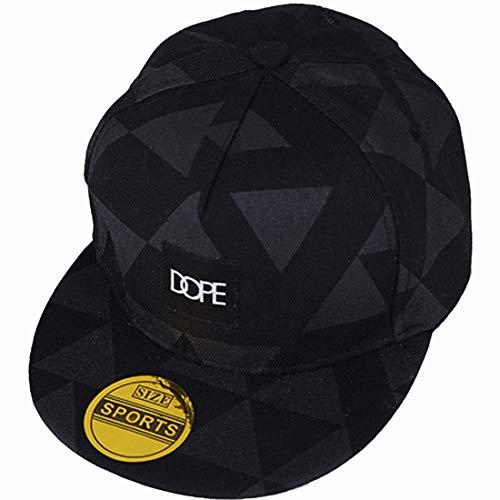 Gorra de béisbol unisex de tamaño ajustable con cierre trasero, para el sol, para conductor de camión, senderismo, Hip Hop de Yohope, Black Geometric patterns