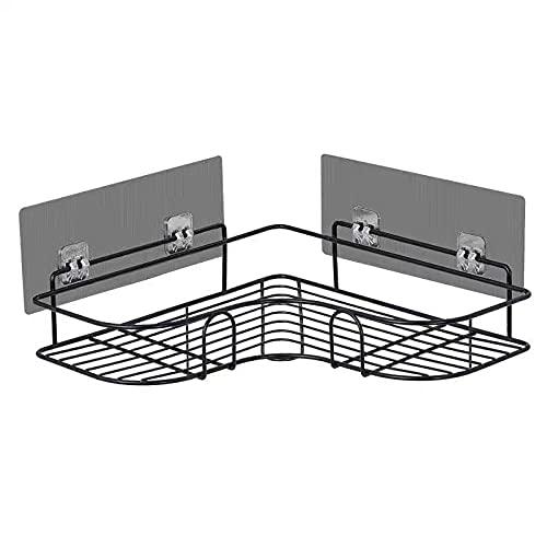 GMYQ Cuarto de baño trípode esquina estantería no-punch pared colgante cocina gárgaras soporte inodoro estante de almacenamiento (2 piezas)
