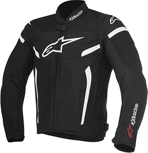 Alpinestars Men's T-GP Plus R V2 Air Motorcycle Jacket, Black/White, 3X-Large
