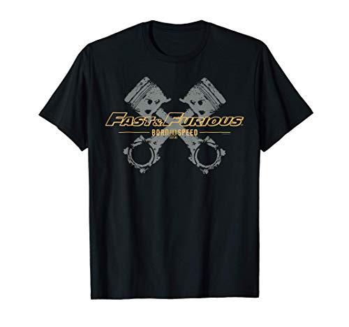 Fast & Furious Engine Piston Born For Speed Logo T-Shirt