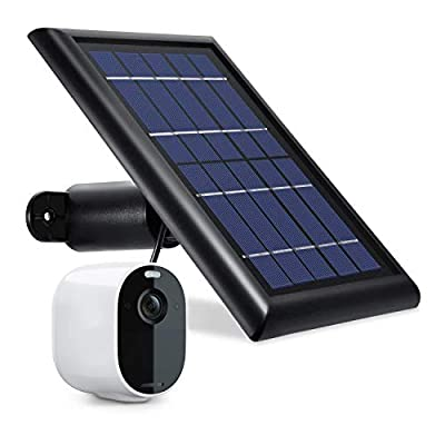 Wasserstein Solar Panel with 13.1ft/4m Cable with 2W 5V Charging Compatible with Arlo Essential Spotlight ONLY (1-Pack, Black) (NOT Compatible with Arlo Ultra, Pro 3, Pro 2, Pro, HD, Floodlight)