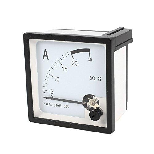 sourcing map Quadratisch Panel Montage beweglichen Wetterfahne 0–20A AC Analog Amperemeter 72mm x 72mm de