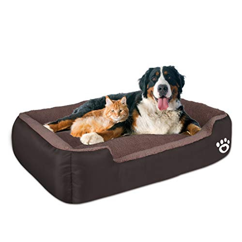 Warmer Pet Dog Beds for Medium/Large Dog(Up to 55 lbs),Rectangle Pet Bed...