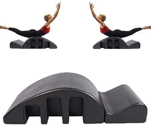 HZYDD Yoga wervelkolom Zwart Yoga Fitness Massage Bed, Pilates ruggengraat Corrector Spinal Tractor Correctie Apparatuur Afneembaar Ontwerp voor Afslanken en Vormen 1-15