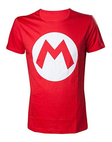 Super Mario T-Shirt Mario Big M Men's T-Shirt- XS Red