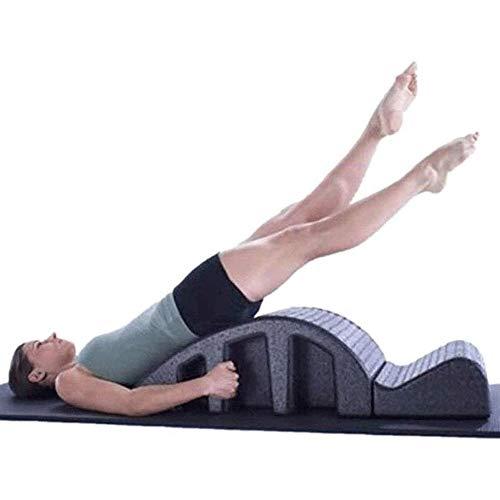 Hammer Yoga Pilates Yoga Mesa de masajes Spine Corrector Back Pain Relief Arco alineación de la Columna Volver Curva Equipo Saludable, Negro
