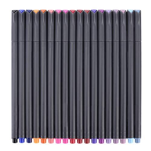 Fineliner Color Pen Set, Fine Line Point Drawing Marker Pens for Writing Journaling Planner Coloring Book Sketching Taking Note Calendar Art Projects Office School Supplies (48 Fineliner Pens)