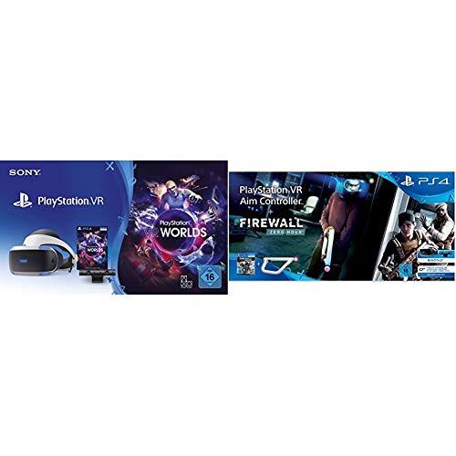 PlayStation Virtual Reality + Camera + VR Worlds Voucher [neue PSVR Version] + Firewall: Zero Hour VR + PS VR-Ziel-Controller