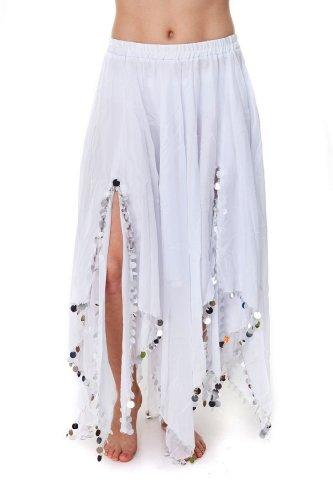 Turkish Emporium Falda Danza Oriental (Blanco Plateado)