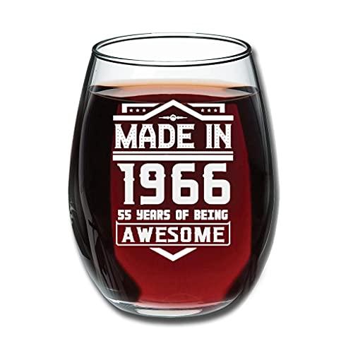 Lind88 Copas de vino sin tallo hechas en 1966 grabadas de alta calidad – Especialmente fiesta decorar blanco 350 ml