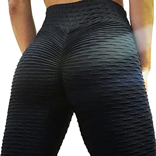 RHNE Leggings anticelulíticos con Levantamiento de glúteos para Mujer, Pantalones de Yoga de Cintura Alta, Mallas Deportivas de Control de Barriga, Fitness, Negro XXXL