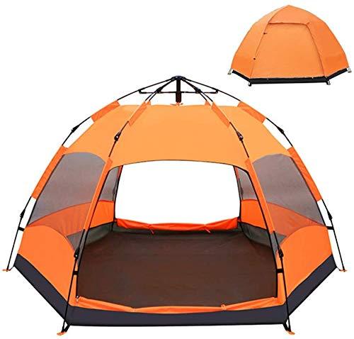 Camping Zelt 5-8 Personen Kuppelzelt, wasserdichtes Zelt werfen, leichte Wanderzelte, Familienzelte Rucksack regen fliegen,Blue