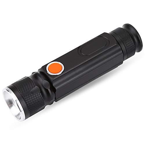 OhhGo Portátil al aire libre USB recargable COB luz de trabajo escalada lámpara linterna antorcha