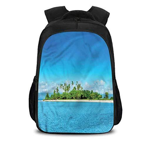 Waterproof Lightweight Backpacks School Bag, Island Philippines Beach Vacation, Suitable for Indoor/Outdoor Activities 15.7x10.6x6.69 Inch