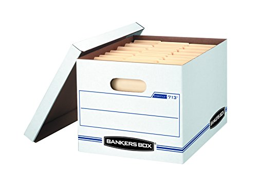 Bankers Box STOR/File Storage Boxes, Standard Set-Up, Lift-Off Lid, Letter/Legal, Case of 12 (0071301)