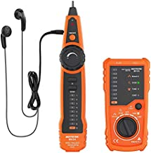 Wire Tracker Meterk RJ11 RJ45 Line Finder Handheld Cable Tester Multifunction Cable Check Wire Measuring Instrument for Network Maintenance Collation, Telephone Line Test, Continuity Checking