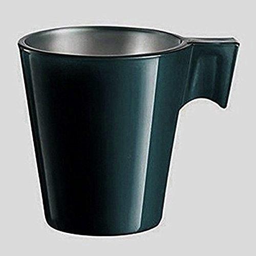 Luminarc Flashy Expresso Lot de 12 tasses en verre coloré vert foncé et avec manche bar café