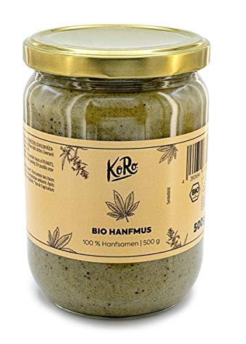 KoRo - Crema de cáñamo BIO 500 g - Crema natural sin aditivos procedente de la agricultura ecológica a partir de semillas de cáñamo 100% molidas
