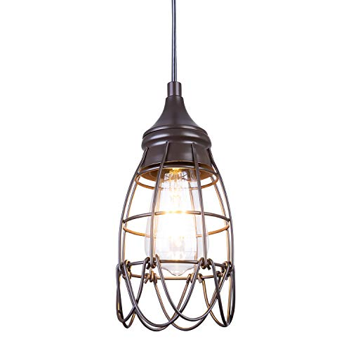NALATI 1-Light Industrial Vintage Hanging Pendant Lighting...
