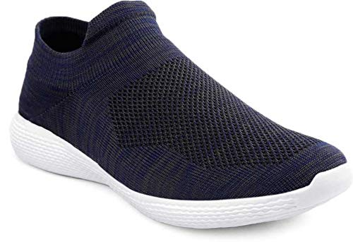 T-Rock Men's Navy Blue Running Shoes - 9 UK