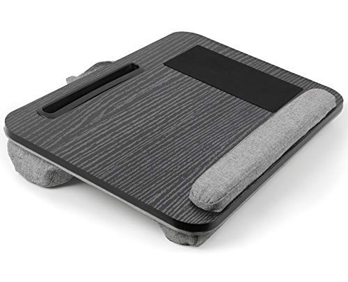 HUANUO Laptop Tray with Cushion, Fits 15'-17' Notebook Tablet, Built in Mouse Pad & Wrist Pad, Pen & Phone Holder