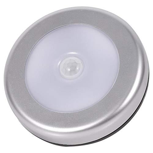 Cloudbox Sensor de luz 3Pcs Inalámbrico PIR Sensor de Movimiento automático Luz Nocturna 6 LED Cuerpo Redondo Lámpara alimentada por batería