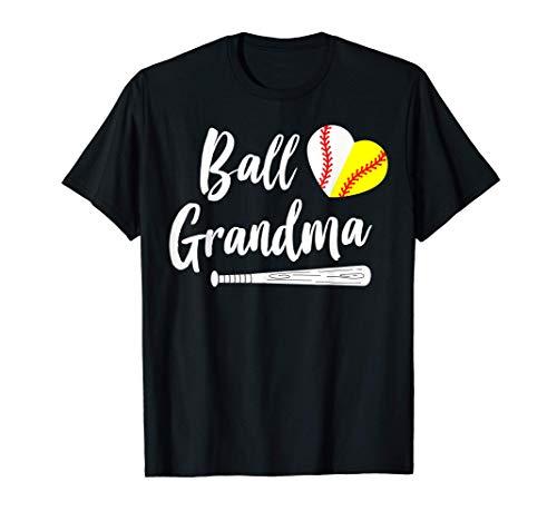 Ball Grandma Baseball Softball Grandmother's T-Shirt