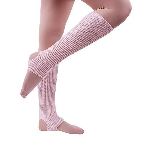 Nanxson Damen Mädchen Dance Leg Warmer Gestrickte Knie Stulpe Beinstulpe Tanzen Strumpfen TTW0058 (L, pink