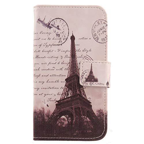 "Lankashi Pattern Wallet Design Flip PU Leather Cover Skin Protection Case for Vkworld Mix 3 5.99"" (Stamp Tower)"