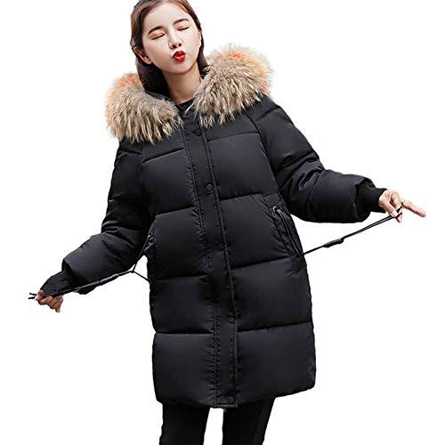 SHANGYI winterjas dames grote dames warme jas met capuchon dikke warme dunne jas lange jas