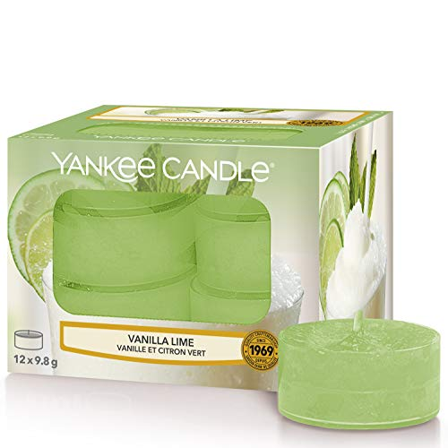 Yankee Candle candeline profumate tea light | Calce alla vaniglia | 12 pezzi