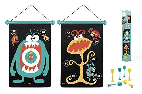 Scratch 6182004 6182004-Dartspiel für Kinder, Monster, groß, magnetisch, 70 x 36 cm