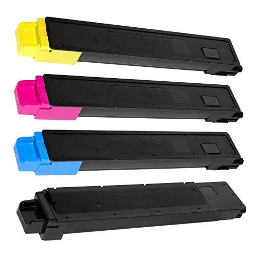 4 Toner kompatibel für Kyocera TASKALFA 2551CI - TK-8325K TK-8325C TK-8325M TK-8325Y 1T02NP0NL0 1T02NPANL0 1T02NPBNL0 1T02NPCNL0 - Schwarz 18.000 Seiten, Color je 12.000 Seiten