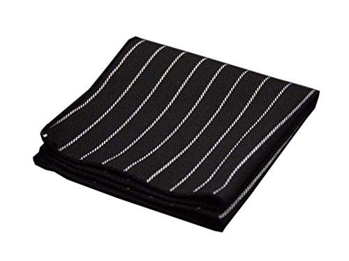 Blancho 2 Stück Baumwolle Handtuch Taschentücher Taschentuch, schwarz