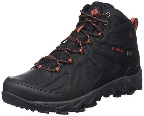 Columbia Peakfreak XCRSN II Mid Leather Outdry Schuhe für Herren, Schwarz (Black, Super Sonic) (Black, Super Sonic), 43 EU