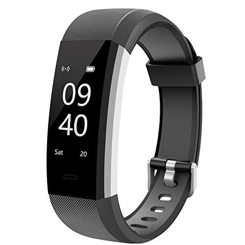 Aneken - Pulsera inteligente con monitor de ritmo cardíaco, registro de actividad, podómetro, Bluetooth con monitor de sueño, reloj inteligente para smartphones Android, iPhone y Samsung