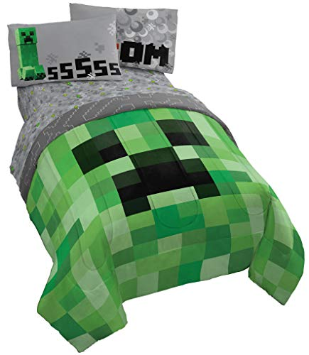 Minecraft Creeper 5 Piece Full Bed Set
