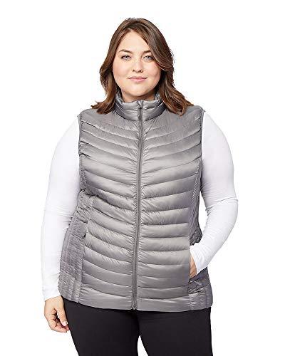 32 DEGREES Womens Plus-Size Ultra-Light Down Packable Vest, Cloud Cover, Size 2X