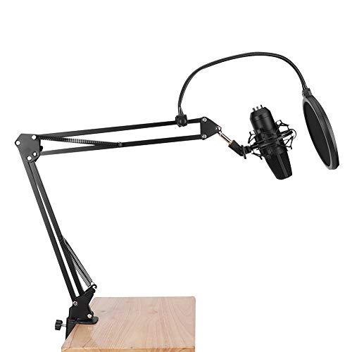 Gatuxe Micrófono USB, Micrófono de grabación cardioide Hi-Fi Core, Antivibración para grabación de transmisiones en Vivo