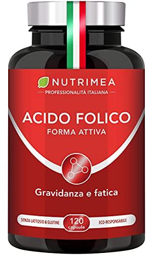 Vitamina B9 Nutrimea | Acido Folico In Forma Attiva Con Assimilazione Superiore | Integratore Per Donne In Gravidanza | Aiuta a