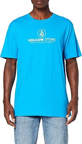 Volcom Super Clean BSC SS T-Shirt 100% Coton Biologique Homme, Cyan Blue, FR : M (Taille Fabricant : M)