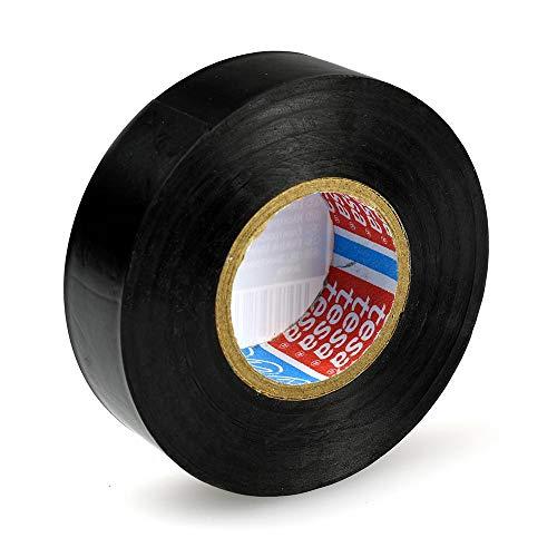 tesaflex 53988 rotolo di nastro isolante in PVC (20m x 19mm), colore: nero, per elettronica, casa e auto