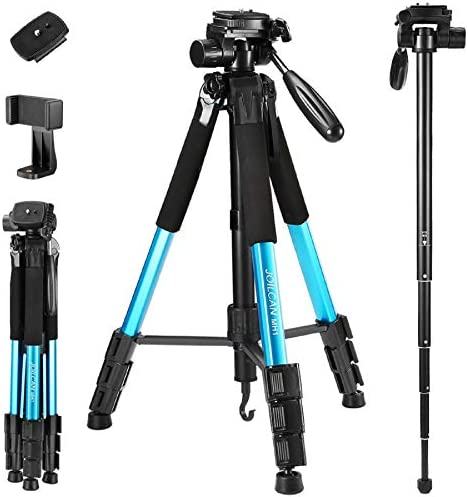 75 Inch Camera Phone Tripod Aluminum Tripod Monopod Full Size for DSLR with 2 Quick Release product image