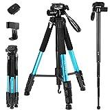 72-Inch Camera/Phone Tripod, Aluminum Tripod/Monopod Full Size for DSLR with 2 Quick Relea...